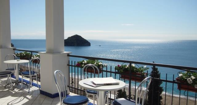View from the terrace at the Best Western Hotel Acqua Novella Spotorno