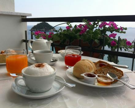 Breakfast from terrace